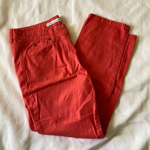 french connection bright coral skinny jeans | 12